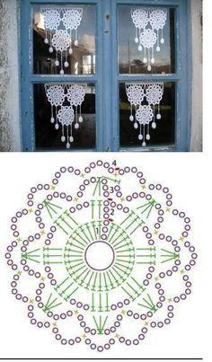 adornos acrochet para la casa cortinas