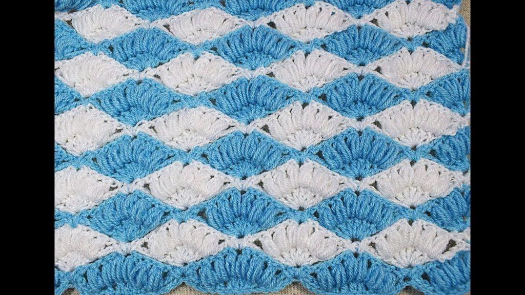mantas para bebe a crochet abanicos