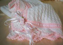 3 tiernas mantitas para bebe a crochet