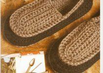Hermosas pantuflas tejidas al crochet