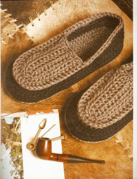 pantuflas tejidas al crochet