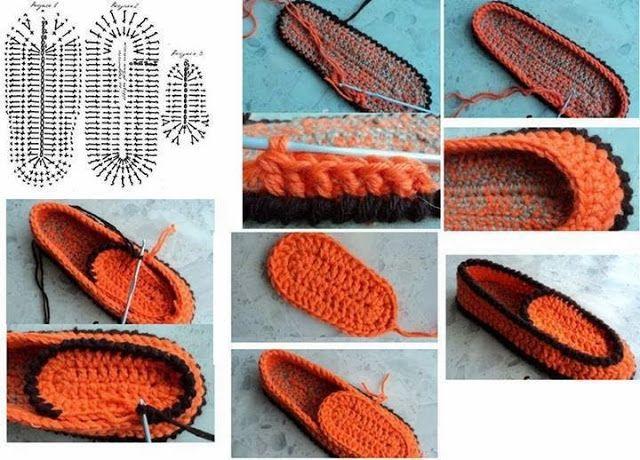 pantuflas tejidas al crochet patrones