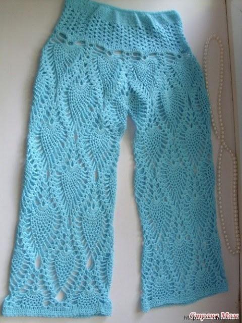 pijamas tejidas a crochet pantalon