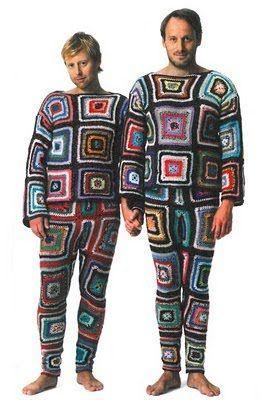pijamas tejidas a crochet para hombres