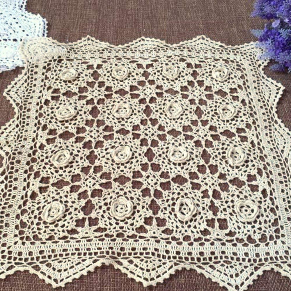 tapetes cuadrados grandes a crochet con flores