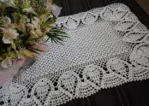 Tapetes rectangulares a crochet para decorar