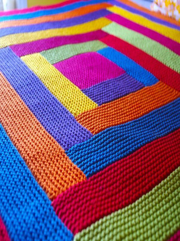 colchas a crochet de colores