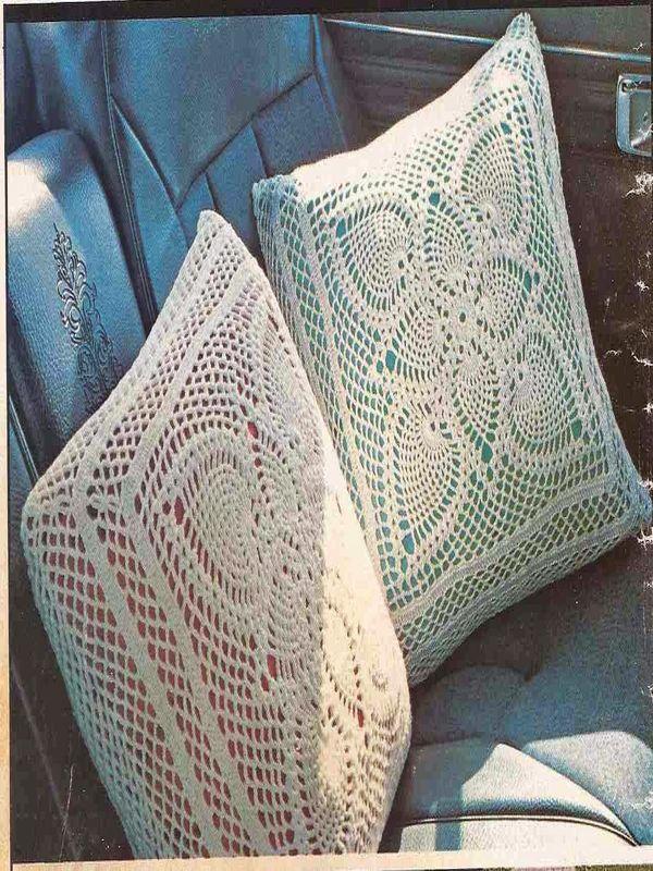 almohadones tejidos al crochet paso a paso