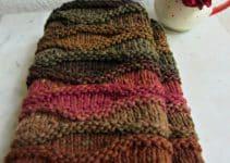 4 bufandas tejidas a dos agujas