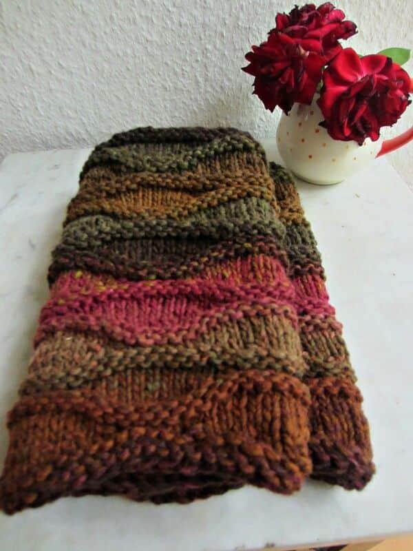 bufandas tejidas a dos agujas paso a paso 3