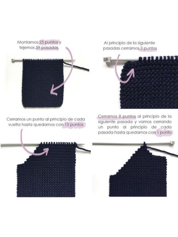 chompas tejidas a mano a dos agujas para niños