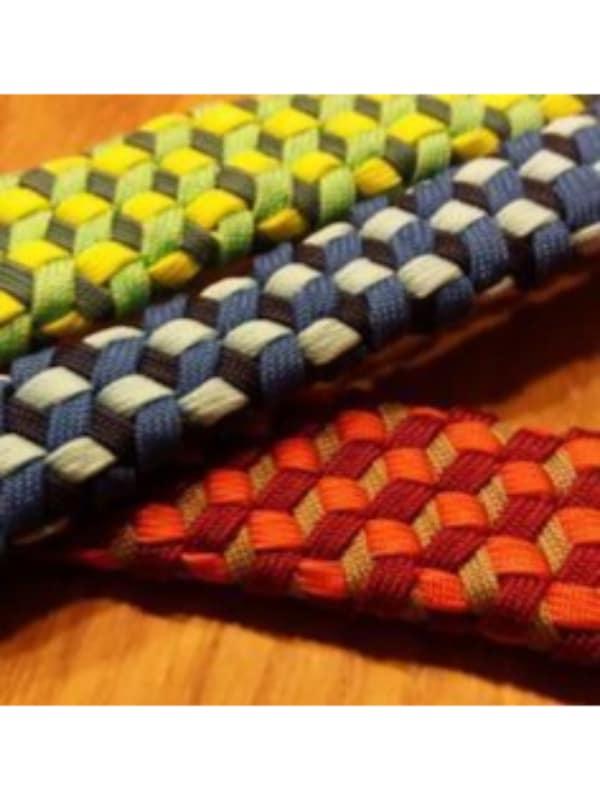cinturones tejidos para hombre