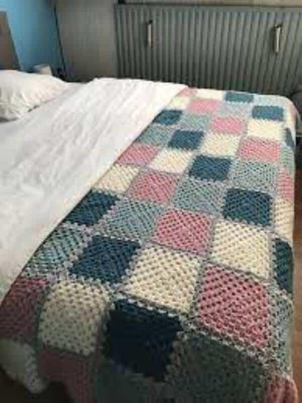 colchas coloridas a crochet