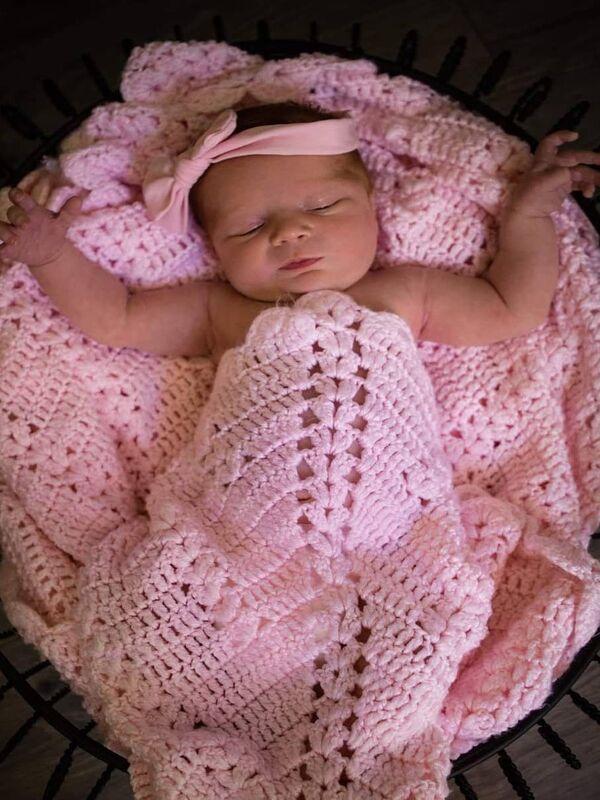 manta para bebe tejida a crochet