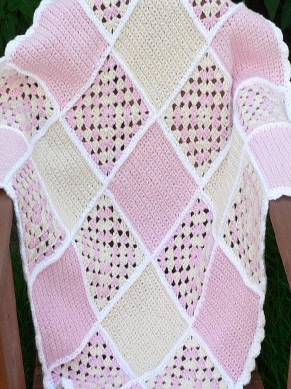 colchas para bebe a crochet