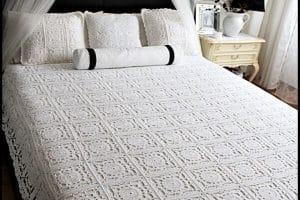 2 modelos de colchas tejidas a crochet paso a paso