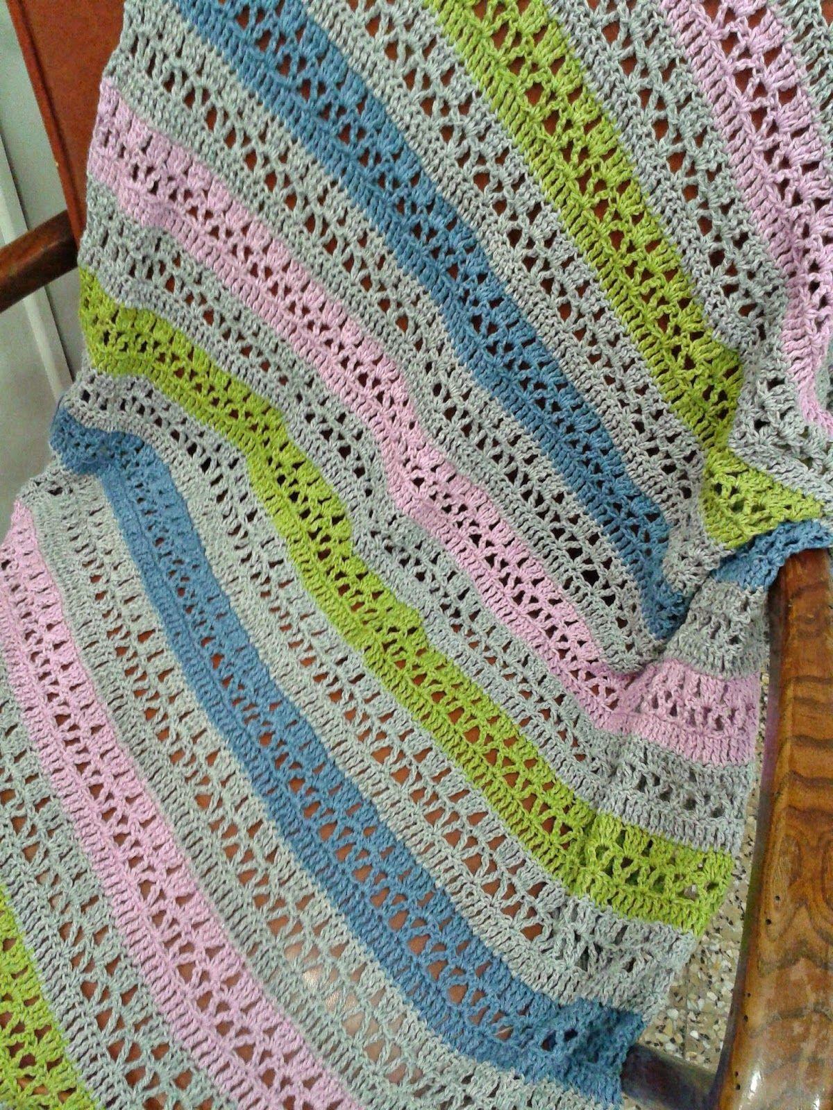 cobija para bebe a crochet