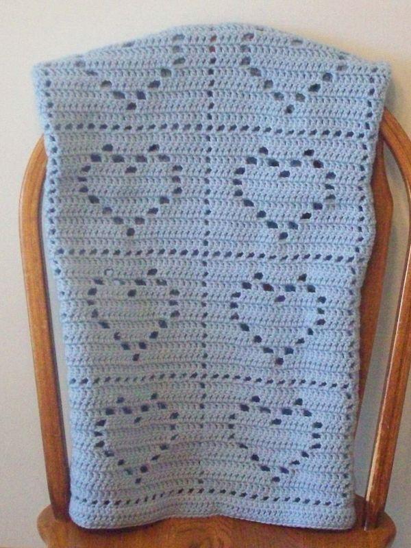 colcha tejida a crochet para bebe