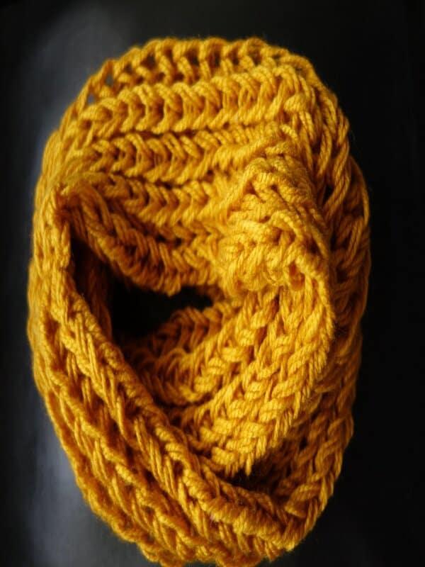 cuelleras tejidas a dos agujas