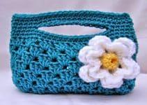 Estuches tejidos a crochet en 2 pasos