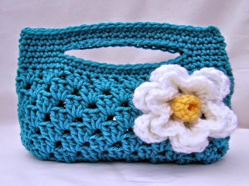 Estuche tejido a crochet