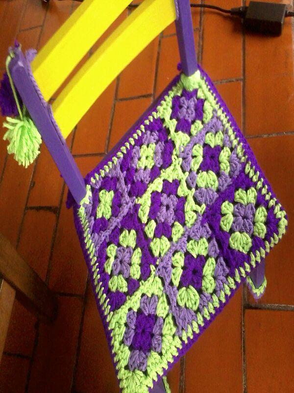 cubre sillas tejidas a crochet