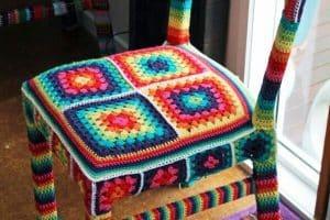 3 ideas de fundas tejidas para sillas