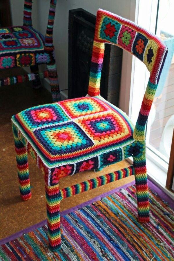 fundas tejidas para sillas
