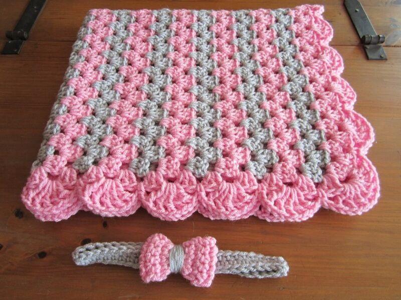 mantas para bebe a crochet