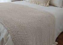 Ideas para pie de cama tejido a dos agujas