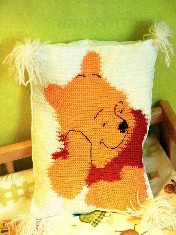 almohadones al crochet infantiles