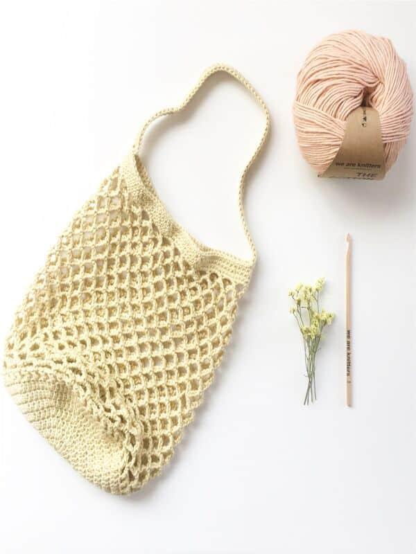 bolsos a crochet paso a paso materiales
