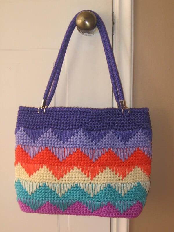 bolsos fáciles a crochet paso a paso