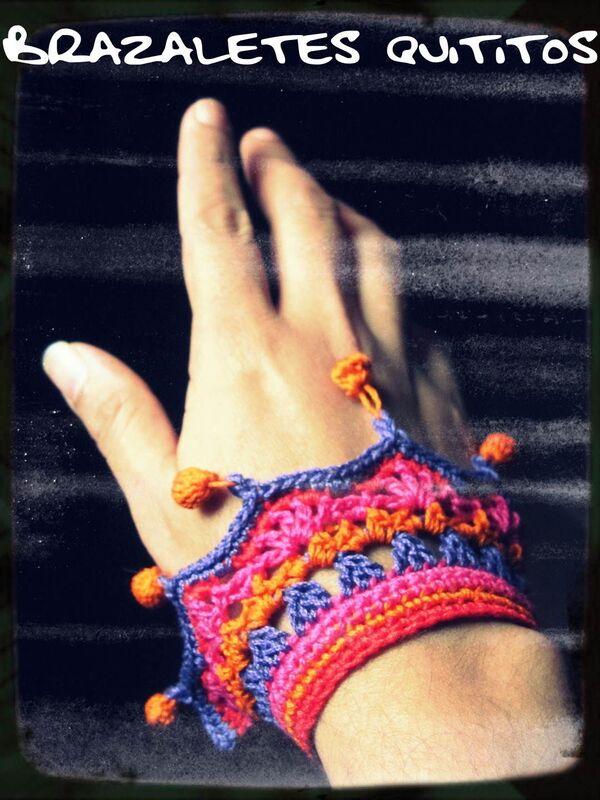 brazaletes tejidos a crochet