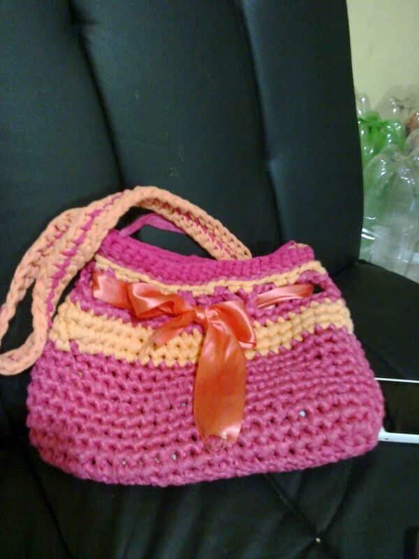 modelos de carteras tejidas al crochet