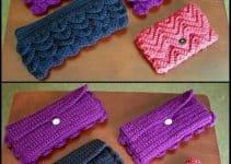 2 modelos de carteras tejidas en crochet