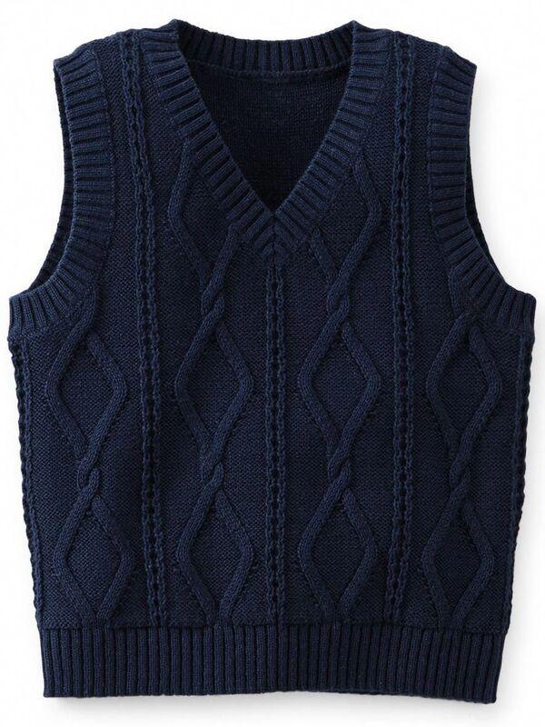 chaleco de lana tejido hombre 1