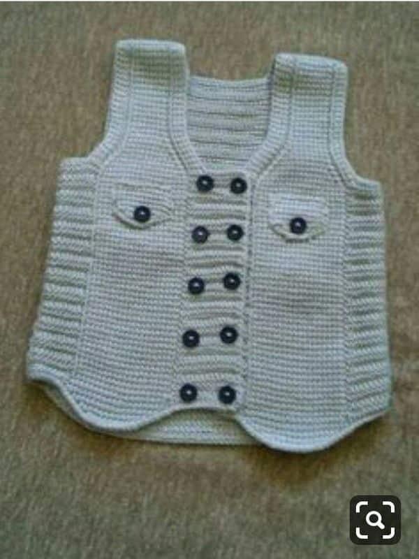 chalecos de lana para bebes