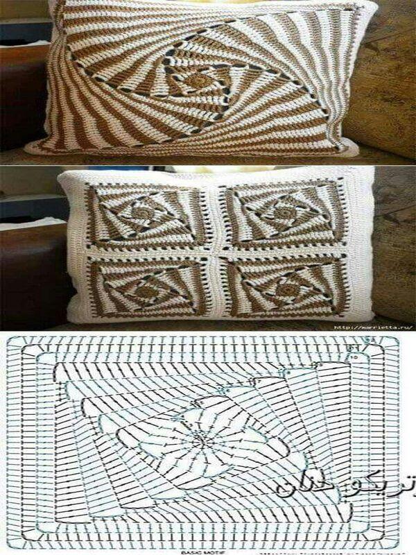cojines a crochet paso a paso