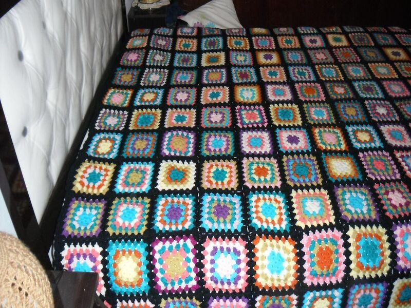cuadros para colcha a crochet