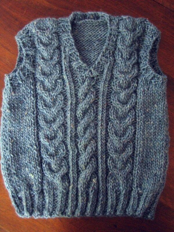 chalecos de lana para bebes paso a paso