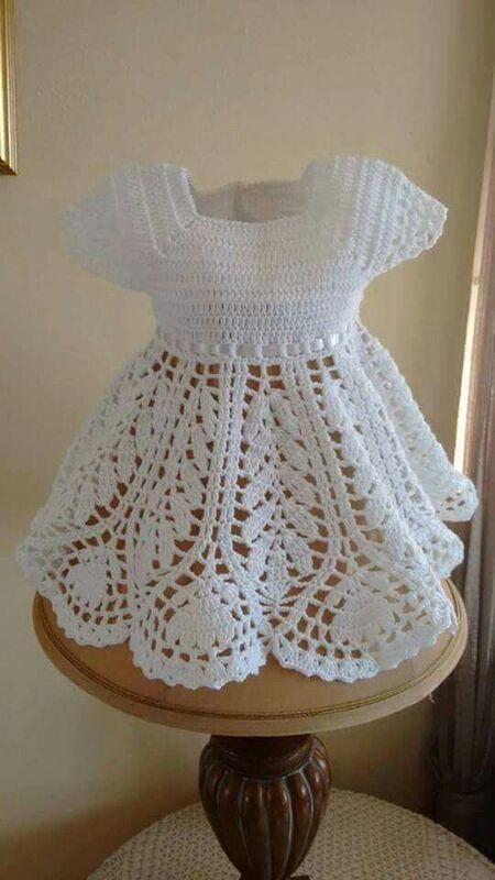 vestidos de bebe a crochet paso a paso