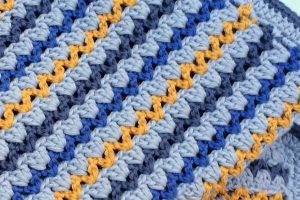 3 mantas de lana a ganchillo