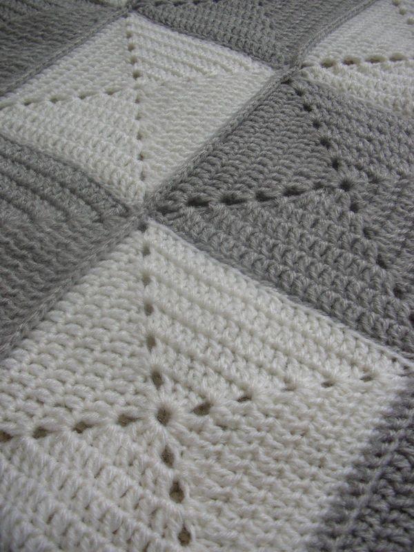 mantas de lana a ganchillo