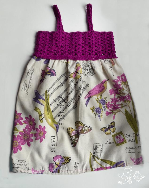vestidos a crochet niña