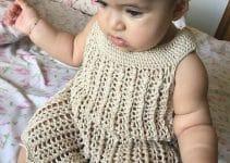Vestidos tejidos para bebes de 1 a 2 años