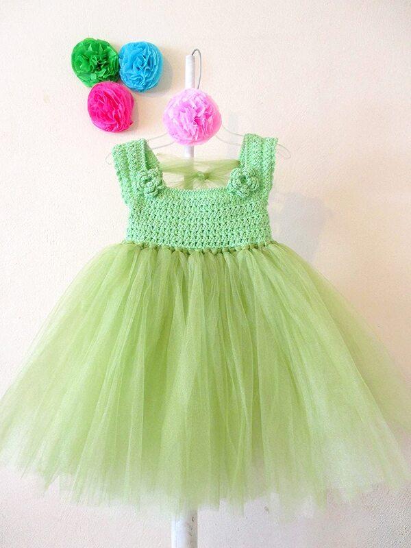vestidos a crochet de niña