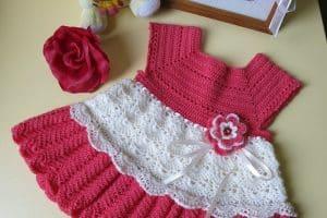 Vestidos de bebe a crochet, de 6 a 12 meses