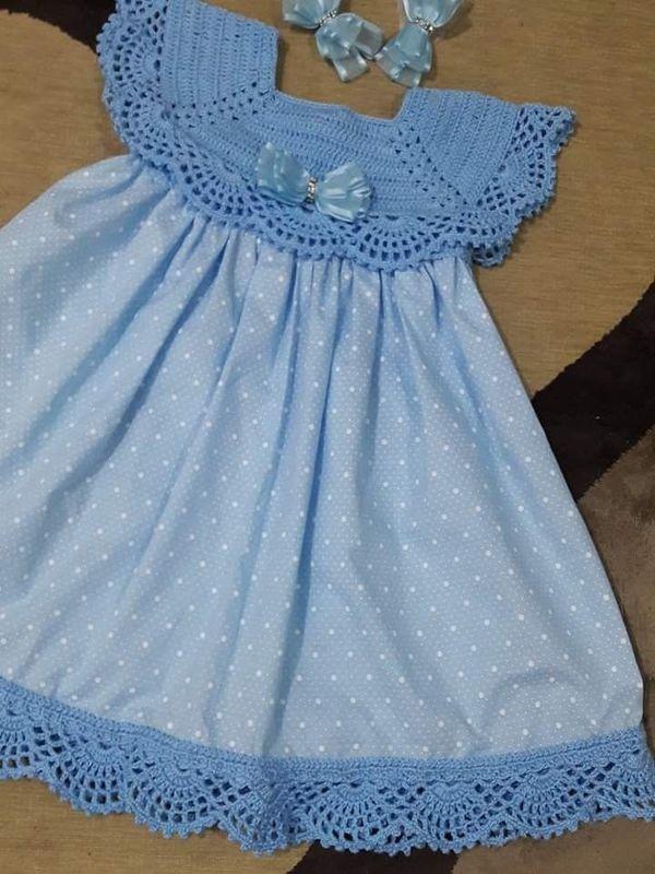 vestidos de bebe a crochet
