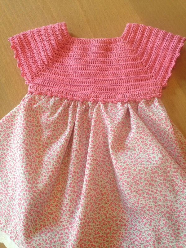 vestidos de bebe a crochet 1 año